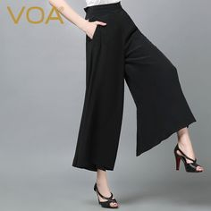 Find More Pants & Capris Information about VOA 2016 autumn fashion loose black silk trousers female temperament was thin high waist silk wide leg pants K5761,High Quality pants thailand,China pants storage Suppliers, Cheap pants company from VOA Flagship Shop on Aliexpress.com