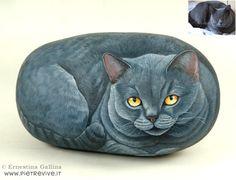 Ernestina Gallina - A arte de pinturas em pedras