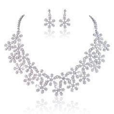 Ever Faith österreichischen Kristall elegant Braut Schneeflocke Halskette mit Ohrring Anhänger Schmuck-Sets klar Silber-Ton A13650-3 Ever Faith http://www.amazon.de/dp/B00IJ10PCU/ref=cm_sw_r_pi_dp_V3XVvb17197S2