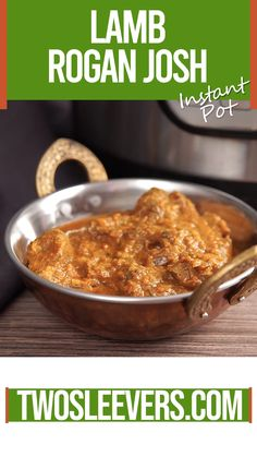 This Lamb Rogan Josh recipe allows to make this classic, Kashmiri lamb dish in one step with no fuss. This makes a great weeknight Indian curry! Spicy Recipes, Curry Recipes, Indian Food Recipes, Beef Recipes, Vegetarian Recipes, Cooking Recipes, Pressure Cooker Lamb, Pressure Cooker Recipes, Lamb Dishes