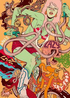 Illustration >>> Douglas Bicicleta, esprit vintage. - Journal du Design