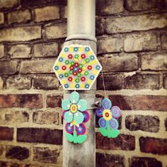 Aarhus perler bead street art by Bettina