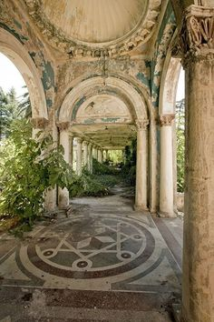 Nature creates a haunted garden at the abandoned railway station at Sukhumi, Abkhazia, on the coast of the Black Sea. The station ceased functioning after the 1992-1993 war in which government forces clashed with Abkhaz separatists over the region's independence from Georgia.