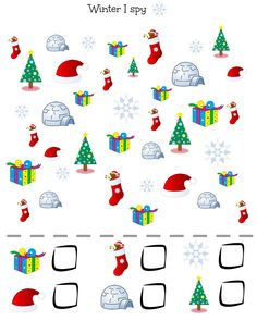 vocabulary, winter, Christmas, I spy, kids, young learners,