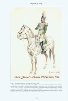 Kingdom of Italy: Plate 1: General of Division, Infantry, Full Dress, 1812