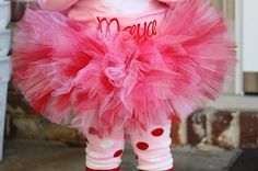 Valentines' Day Tutu  pink and red extra by DarlingLittleBowShop, $28.00