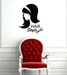 Wall Stickers Vinyl Decal Face Hot Sexy Girl Female Hair Hairstyle ig096