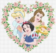 It's a heart shape tipe of picture frame with pink flowers on there but you can change some of the colours that has brillant Disney princesses on it