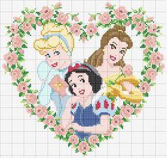 alfabeto princesa sofia en punto de cruz - Buscar con Google