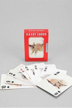 3-D Cat Playing Card Set