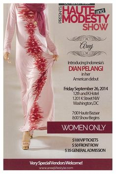 DC Fashion Week: Dian Pelangi's US Debut Fashion Show (Friday, September 26, 2014) | Embassy Of Indonesia | Washington D.C.