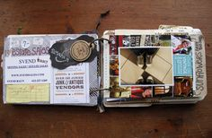 besottment by paper relics: Minneapolis Souvenir Travel Journal Filled