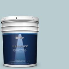 BEHR MARQUEE 5 gal. #MQ3-54 Dayflower One-Coat Hide Satin Enamel Interior Paint 745005 at The Home Depot - Mobile