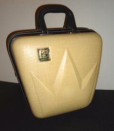 Vintage Brunswick Bowling Ball Bag Hard Case