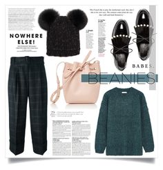 """""""BEANY"""" by virgamaleva ❤ liked on Polyvore featuring See by Chloé, Robert Clergerie, Antonio Marras, Eugenia Kim, Mansur Gavriel and McGinn"""