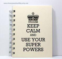 Keep Calm Journal Notebook Diary  Keep Calm by stevenjameskeathley, $8.95