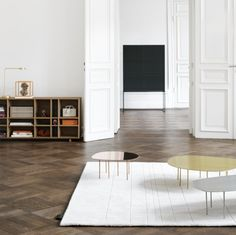 Zoo table. 'Puppy' in copper, 'Youngster' in brass. By Claesson Koivisto Rune 2011 for ASPLUND Edition