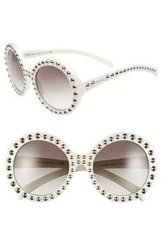 6f9fdc8f26 Free shipping and returns on Prada 56mm Studded Sunglasses at  Nordstrom.com. Gleaming studs
