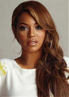 Custom Beyonce Hair Style Long Wavy Hand Tied Full Lace 100% Human Hair Wig