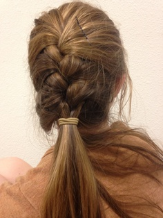 Day 3: French braid into a low ponytail