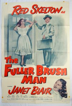 The Fuller Brush Man Fuller Brush, Red Skelton, Classic Movies, Comedians, Comedy, Film, Movie Posters, Movie, Film Stock