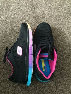 83d8f36bdaac31 Colourful sketchers with memory foam. The most comfortable shoes I ve ever  worn!