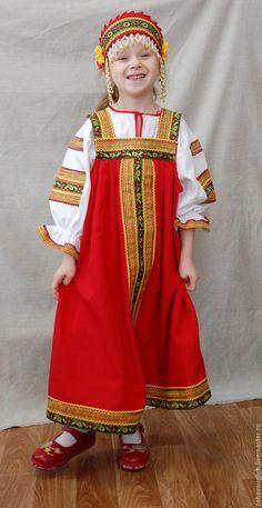 """Купить Костюм """"Аленушка"""" габардин, хлопок. - русский народный костюм, сарафан, русский стиль, габардин"""