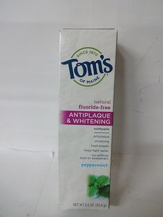 Tom's Of Maine Antiplaque and Whitening Toothpaste, 5.5 oz ** Check out the image by visiting the link.