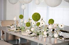 0 0 0 0 0 1676 Le blanc pour la pureté, le vert pour le côté frais et très nature voilà deux couleurs qui s'harmonisent parfaitement pour un mariage vert…
