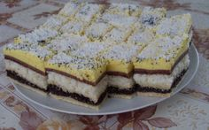 Orhidea szelet Hungarian Desserts, Hungarian Cake, Hungarian Recipes, Cake Bars, Recipe Please, Holiday Dinner, Winter Food, International Recipes, Meals For One