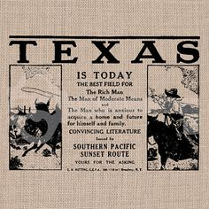 Vintage Texas  Advertisement digital download by TanglesGraphics, $1.00