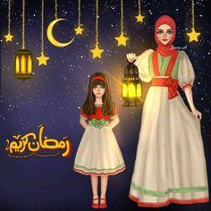 Image for Mother Daughter Ramzan Dp pic for Girls Fb Ramadan Dp, Ramadan Images, Ramadan Cards, Ramadan Mubarak, Ramadan Greetings, Cute Baby Pictures, Girly Pictures, Girly Pics, Islamic Cartoon