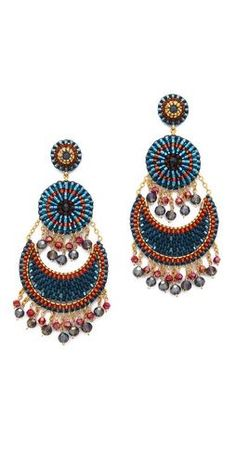 Miguel Ases Beaded Tier Earrings | SHOPBOP