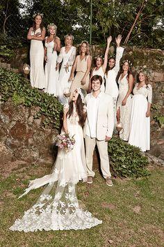 As amigas da noiva! Casamento Renata Paraiso e Diego. Um casamento divino no campo, ou melhor, no quintal da casa da noiva.