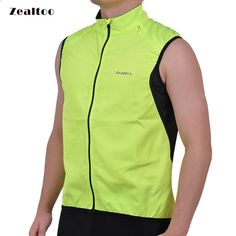 Zealtoo verde ciclismo chaleco ultrafino liviano chaqueta sin mangas de la chaqueta que corre el chaleco de la bicicleta ropa deportiva al aire libre a prueba de viento Cheap Cycling Jerseys, Cycling Vest, Sleeveless Coat, Courses, Sport Outfits, The North Face, Sportswear, Bicycle, Running