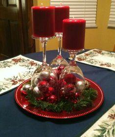 Новогодние свечи из бокалов