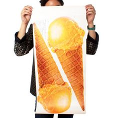 Two Butterscotch Cones Print, $48, now featured on Fab.