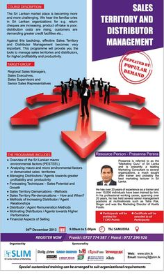 (1) Sales Territory and Distributor Management... - Sri Lanka Institute of Marketing (SLIM)