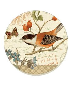 Songbirds Coaster - Set of Four by CounterArt #zulily #zulilyfinds