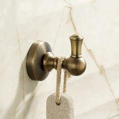 Bathroom Towel Rack Antique Clothes Hook Single Robe Hook   ICON2 Luxury  Designer Fixures Bathroom #