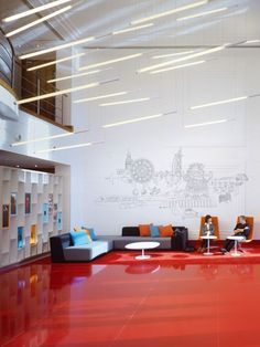 Virgin Atlantic's Branded HQ Lobby - Office Snapshots