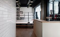 Fight club: Studio Xoo brings design clout to a London boutique boxing gym Gym Interior, Interior Styling, Interior Decorating, Interior Design, Boxing Gym Design, Kickboxing Gym, Muay Thai Gym, Fight Club, Fight Gym
