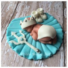 NAUTICAL BABY SHOWER  trident king of the seanautical baby girl pink sail boat Fondant Cake Topper Sail Boat Anchor Baby Decorations