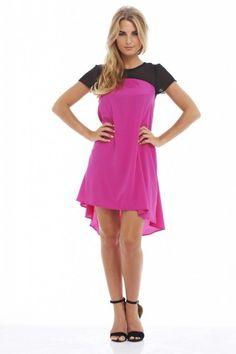 Contrast Pink  Swing Dress