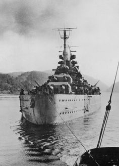 "The German battleship ""Tirpitz""."