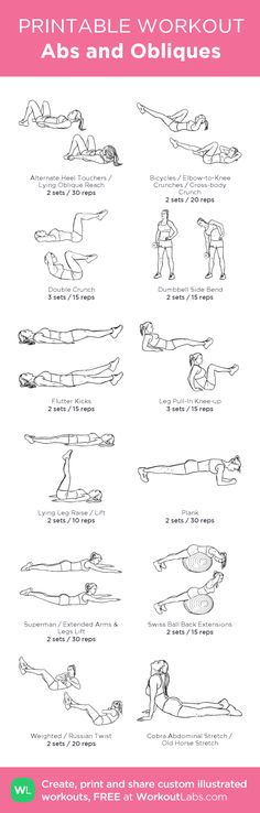 Abs and Obliques Day #customworkout