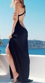 Vestido de vacación sexy-negro