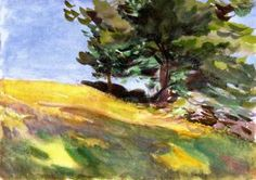 Near June Street - John Singer Sargent - watercolor on paper, 1890