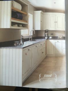 Bastide Kitchen Fired Earth Like Stone Floor And S Drawers