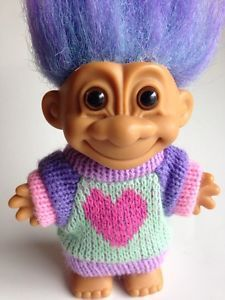 Vintage Russ Troll doll with sweater - a throwback to my childhood